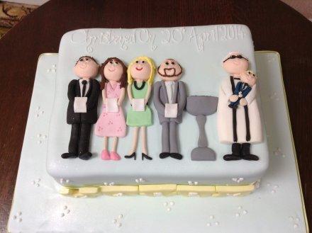 Christening cake 5